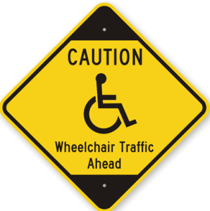 Caution-Wheelchair-Traffic-Ahead-Sign-K-7765
