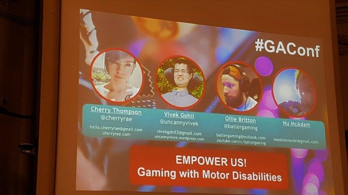 Picture of the panel about gaming with motor disabilities