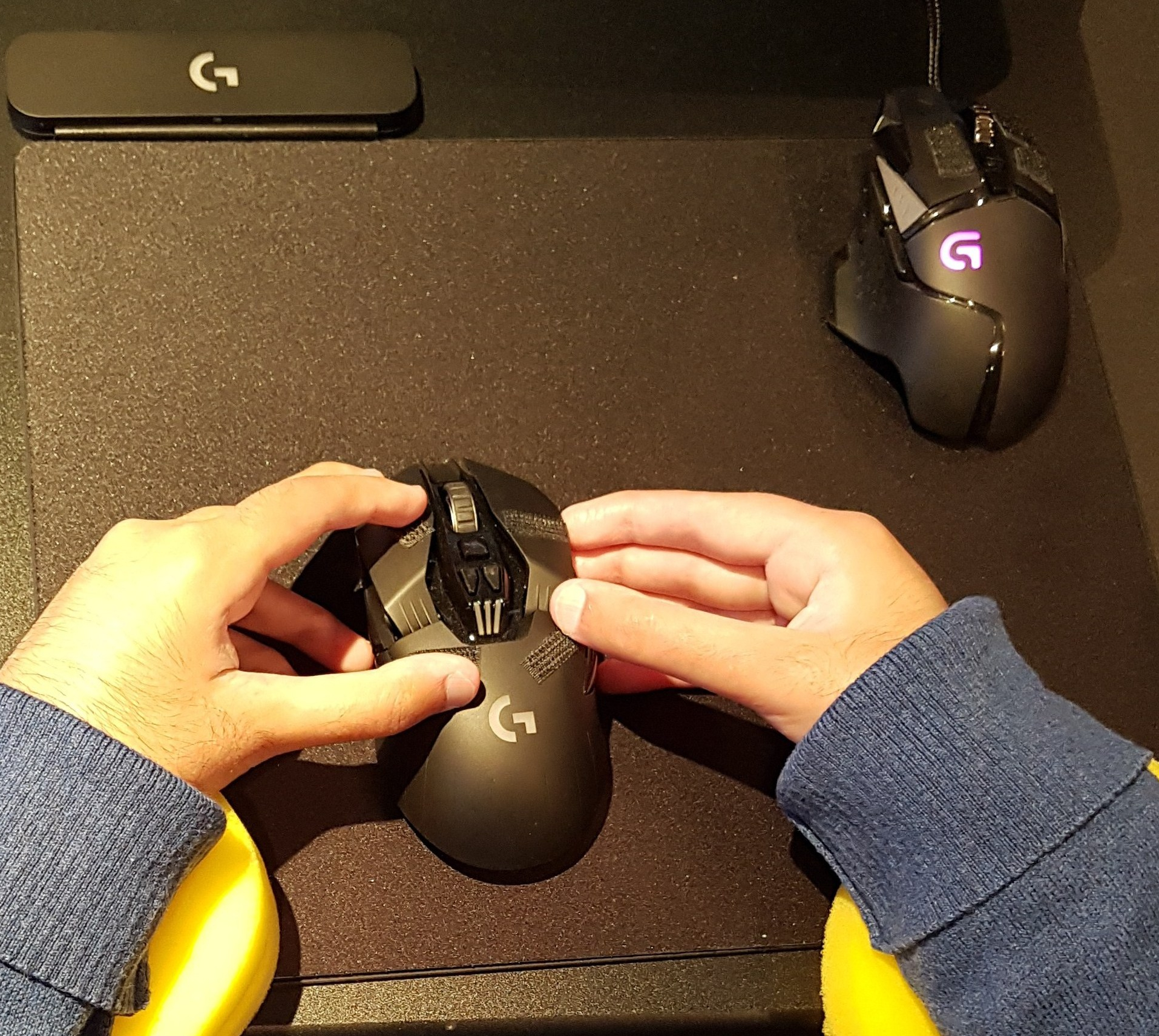 Holding a Logitech G903 Mouse