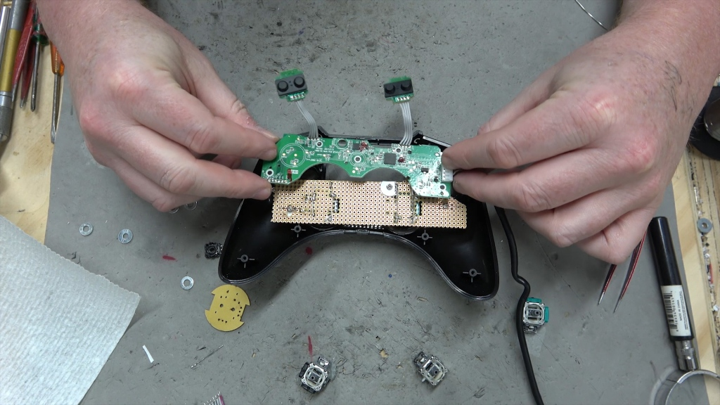 The Motherboard inside my custom controller.