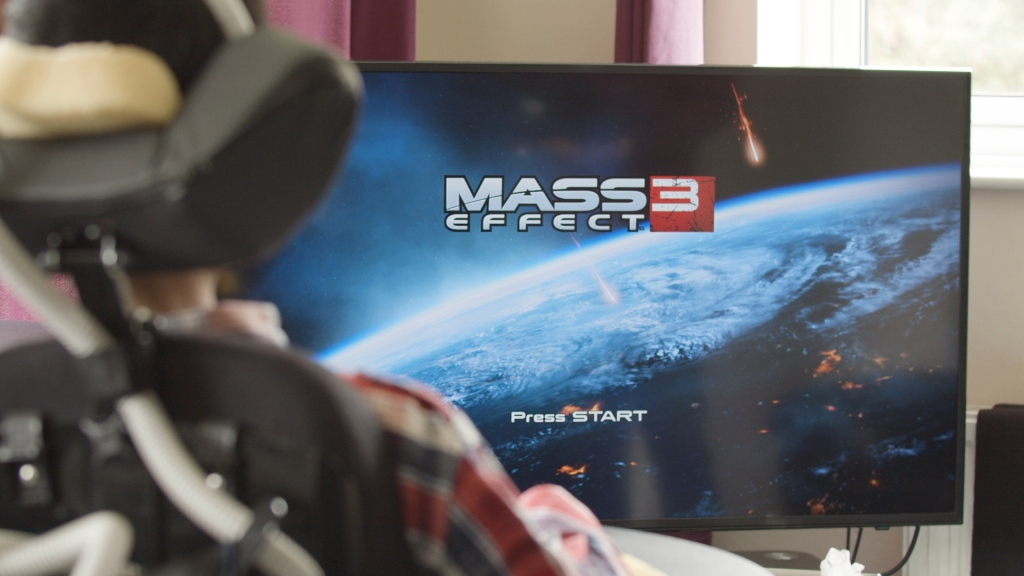 Starting screen for the game Mass Effect 3.