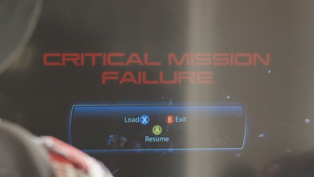 A 'Critical Mission Failure' screen.