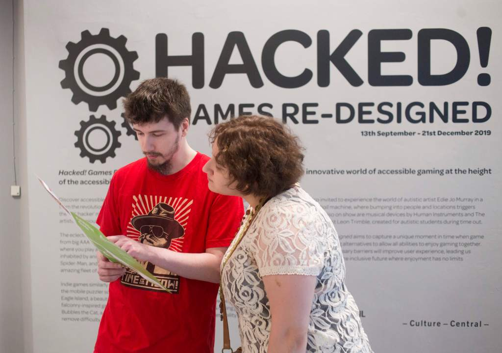 Sign for the Hacked! Exhibition   Pictures credited to Alison Baskerville / BOM