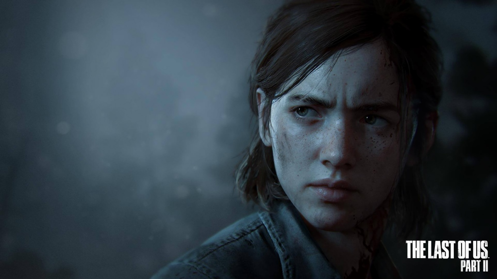 Close-up of the character Ellie from the Last of Us Part II