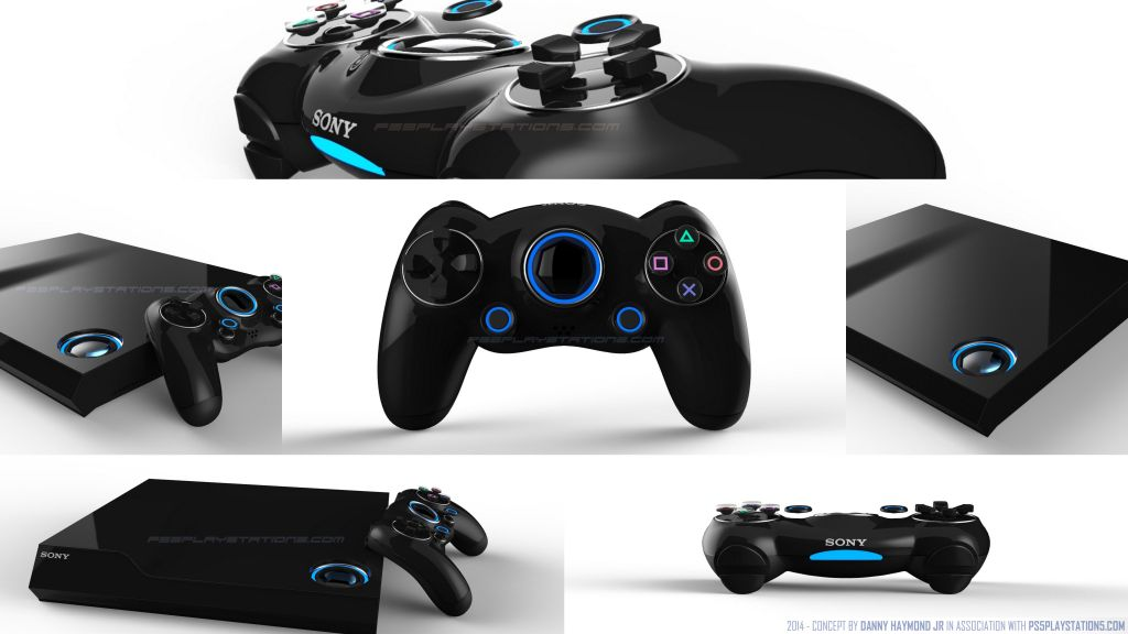 Mock-up image of the PS5 controller
