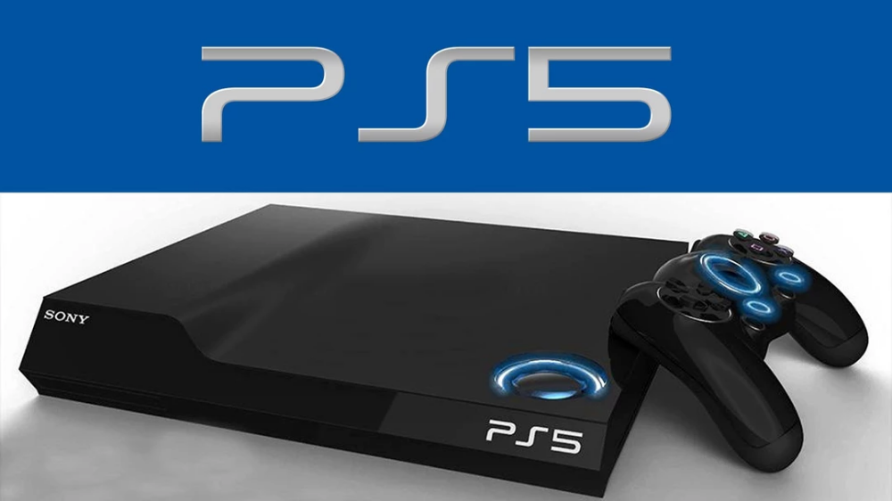 Mock-up graphic of the PS5 console