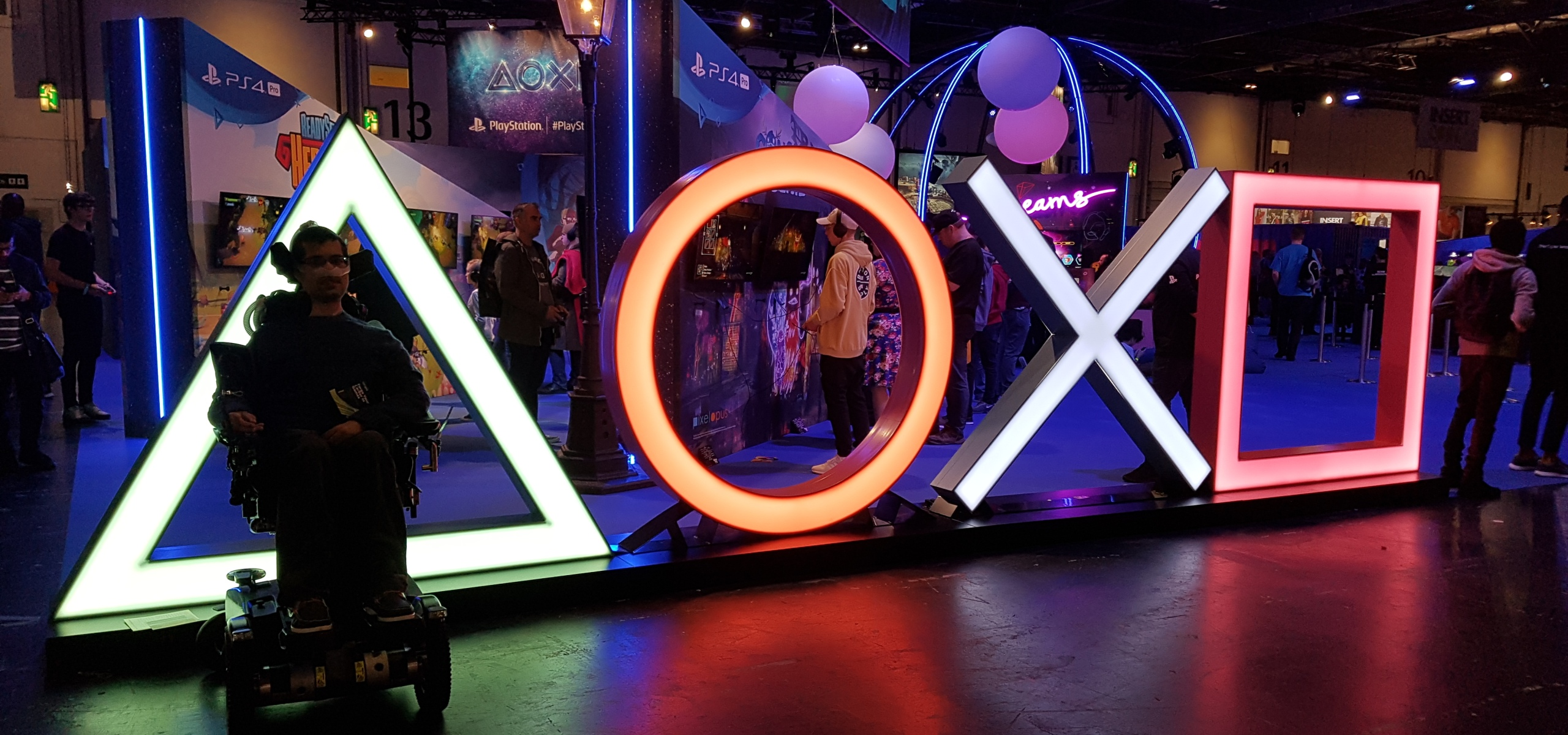 PlayStation face buttons taking at EGX 2019